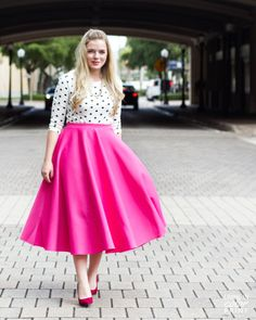 Striped Mesh Hot Pink Midi!!! | Mi otra yo | Pinterest | Hot pink ...