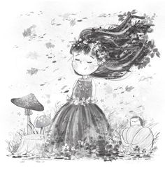 Autumn by Sofia Cardoso, children's illustration #illustration #kidlitart
