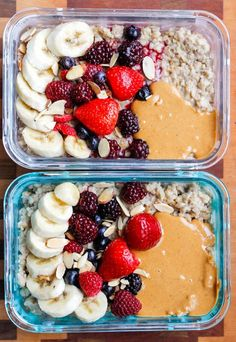 Healthy Meals Peanut Butter Banana Instant Pot Steel Cut Oats - an easy and healthy breakfast recipe that's perfect for meal prep. - Peanut Butter Banana Instant Pot Steel Cut Oats is a delicious and healthy make-ahead breakfast recipe. Meal Prep Bowls, Easy Meal Prep, Healthy Meal Prep, Healthy Snacks, Healthy Life, Meal Preparation, Recipes For Meal Prep, Healthy Drinks, Healthy Recipes For One