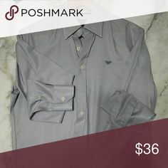 ARMANI JEANS dress shirt Previously used in good condition Armani Jeans Shirts Dress Shirts