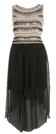 Beaded bodice drop dress