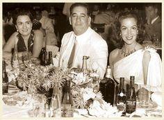 - Maria Felix con los propietarios de Tropicana - 1954 -  ---Habaneando.Actores, reyes,cintíficos, presidentes y Ernest Hemingway