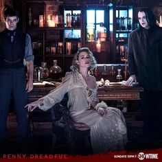 Penny Dreadful Harry Treadaway as Victor Frankenstein, Billie Piper as Brona Croft and Rory Kinnear as Caliban/The Creature. Penny Dreadful Lily, Penny Dreadful Season 3, Billie Piper Penny Dreadful, Dorian Gray, Harry Treadaway, Penny Dreadfull, Rory Kinnear, Vanessa Ives, Best Television Series