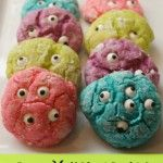 Monster cookies are OOGLES of fun& oh so delicious! I saw these super cool gooey monster cookies over at LilLuna and couldn't resist! My 5 year old