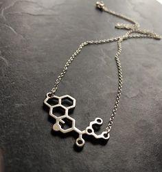 LSD Necklace LSD Molecule Necklace Molecule by Instyleglamour