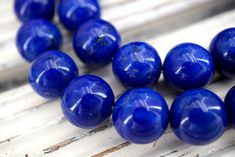Lapis Lazuli round beads 12mm (ETB01540) Healing crystal/Unique jewelry/Vintage jewelry/Gemstone necklace