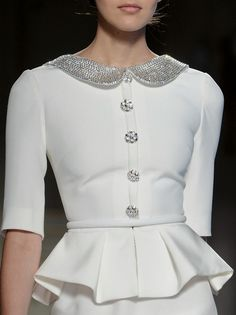 Gorgeous ivory and silver ensemble for functions - Georges Hobeika haute couture s/s 2013