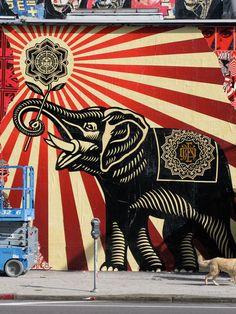 Street Art By Obey - Los Angeles (CA)