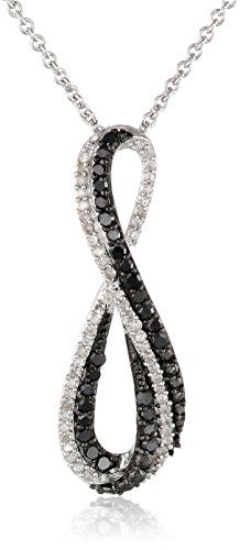 #blackdiamondgem Sterling Silver Black and White Diamond Infinity Pendant Necklace (1/3 cttw), 18″by Amazon Collection - See more at: http://blackdiamondgemstone.com/jewelry/necklaces/pendants/sterling-silver-black-and-white-diamond-infinity-pendant-necklace-13-cttw-18-com/#sthash.Se1lGR3N.dpuf