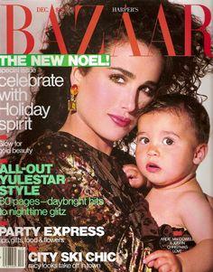 Andie MacDowell - Harper's Bazaar Dec 1987