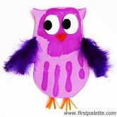 @Ashley Glover @Alonna Brown @Meagan Fields  What about this owl?  We could do pink/purple for girls and blue/green for the boys.  We could use the pipe cleaners that we have left over.  Something fuzzy for the wings.  wiggly eyes.  All we have to cut is the body shape and maybe orange triangle noses.