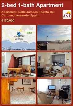 2-bed 1-bath Apartment in Apartment, Calle Jameos, Puerto Del Carmen, Lanzarote, Spain ►€170,000 #PropertyForSaleInSpain