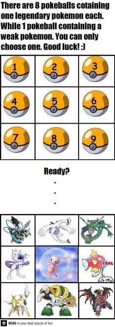 Choose wisely, trainers!