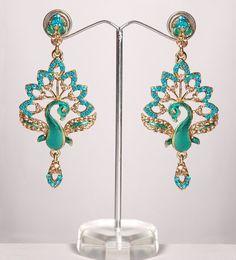 $16 Peacock earrings