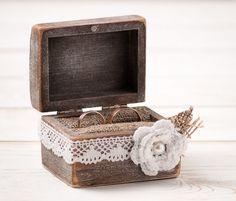 Hochzeit Ring Box Ring Bearer Pillow Box von InesesWeddingGallery