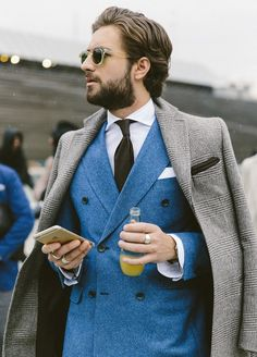 blue Double breasted jacket