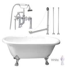 acrylic clawfoot tub package. Randolph Morris Clawfoot Tub Package  60 Inch Acrylic Double Ended Bathtub with Faucet 62 inch Slipper