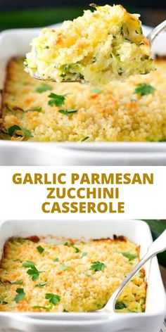 This Garlic Parmesan Zucchini Casserole is an easy side dish recipe that pairs beautifully with just about any family meal! Best Zucchini Recipes, Vegetable Recipes, Vegetarian Recipes, Cooking Recipes, Healthy Recipes, Best Recipes, Zucchini Vegetable, Healthy Casserole Recipes, Zucchini Squash