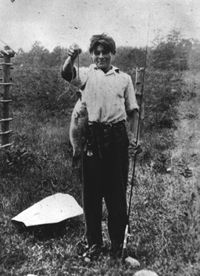 A young Ernest Hemingway with his catch - Courtesy of The Hemingway Collection at the John F. Kennedy Library, Boston