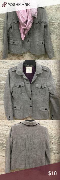 Gray & Cream Herringbone Tweed Wool Blend Jacket Good condition Jackets & Coats Blazers
