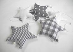 GIRLANDE+Sterne+grau/weiß+von+Neuling+auf+DaWanda.com
