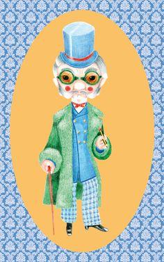 Il nonno_50x80 cm_Matite colorate + Photoshop