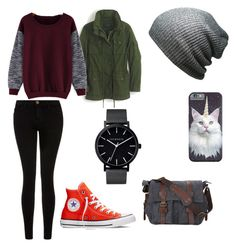 """""""Untitled #32"""" by kburfield ❤ liked on Polyvore featuring Current/Elliott, Converse, J.Crew and The Horse"""