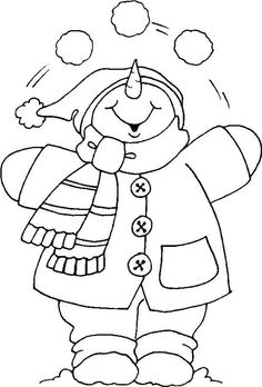 Christmas Coloring Pages - Snowman Christmas Applique, Christmas Embroidery, Christmas Snowman, Christmas Crafts, Christmas Coloring Sheets, Snowman Quilt, Illustration Noel, Christmas Drawing, Snowman Crafts