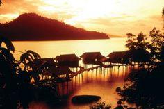 Water Bungalows at Pangkor Laut Resort in Malaysia