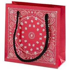 PRIZE: This Small Western Bandanna Tote Bag looks like a red bandanna and features black nylon carry handles.