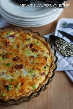 Recipe For Meat Lovers Quiche - My husband requested quiche for his birthday. He said real men do eat quiche when it's loaded with meat. What's For Breakfast, Perfect Breakfast, Breakfast Quiche, Breakfast Dishes, Breakfast Recipes, Birthday Breakfast For Husband, Christmas Breakfast, Breakfast Casserole, Quiche Recipes
