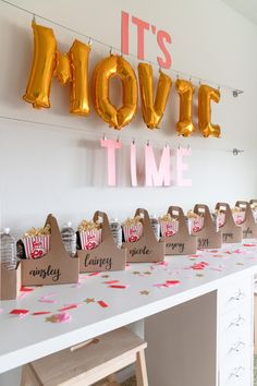 movie themed birthday party snacks, pre-teen movie party ideas Source by craz. - movie themed birthday party snacks, pre-teen movie party ideas Source by crazywonderful - Fun Sleepover Ideas, Sleepover Birthday Parties, Birthday Party Snacks, Birthday Party For Teens, 14th Birthday, Snacks Für Party, Cake Birthday, Birthday Cards, Happy Birthday