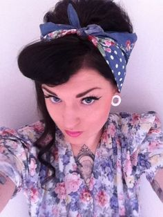 Pin up hair with a headband - needed for summer x Work Hairstyles a6e0f0963c8