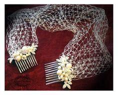 Wedding hair accessory Bridal birdcageBridal by GlamDuchess
