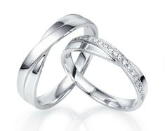 14k White gold wedding bands. Gold wedding bands. Unique wedding bands. Matching wedding bands. Wedding bands his and hers. Couple rings.