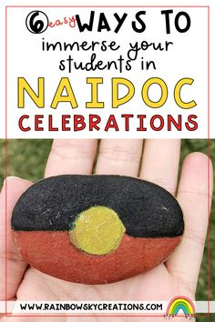 NAIDOC Week is celebrated in Australia during the first full week of July. It is about celebrating the history, culture and achievements of Aboriginal and Torres Strait Islander People. Here are a few ways we have engaged our students in NAIDOC Week celebrations. Easy and simple NAIDOC Week activities for kids. Primary Classroom, School Classroom, Primary School, Naidoc Week Activities, Activities For Kids, Teaching Resources, Teaching Ideas, Rainbow Sky, Australian Curriculum
