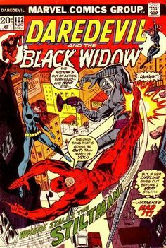 Daredevil #102  Featuring the Black Widow  Marvel Comics Group  August 1973  $.20
