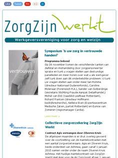 Nieuwsbrief nr 16: ❶ Symposium 'Uw zorg in vertrouwde handen?  ❷ Collectieve zorgverzekering ❸ Bijeenkomst transitie WMO  ❹ Matchtafels ❺ Week van Zorg en Welzijn 2015