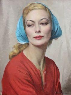 Herbert James Gunn, woman in headscarf                                                                                                                                                     More
