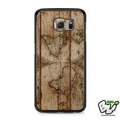 Old World Map Wood Samsung Galaxy S6 Case