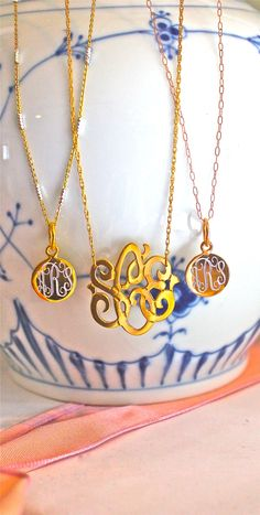 Flutter Necklaces & Cut Out Monogram Necklaces SwellCaroline.com