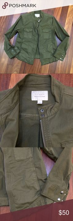 New Hinge Military Jacket Olive Green New without tags. Never worn - just purging my closet! Hinge Jackets & Coats Utility Jackets