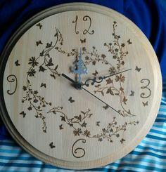Pyrography clock I made