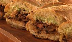 Grilled Skirt Steak or Zucchini Tortas Tostadas, Rick Bayless, Mexican Sandwich, Latina, Torta Recipe, Gourmet Tacos, Grilled Skirt Steak, Flautas, How To Grill Steak