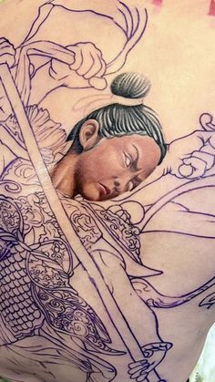 Fantasy, Portrait, Tattoos, Tatuajes, Headshot Photography, Tattoo, Portrait Paintings, Fantasy Books, Fantasia