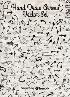 200 Free Hand Draw Vector Arrows