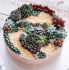ivenoven succulent cakes cactus flowers terrarium cakes succulent cake nature dessert buttercream frosting - beautiful!
