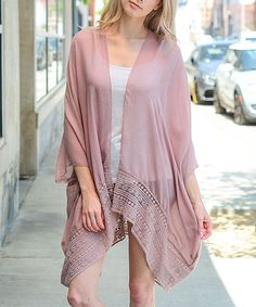 Complete your layered look with delicate sophistication with this flowing and lightweight piece. Look Rose, Layered Look, Open Cardigan, Dusty Rose, Cardigans For Women, That Look, Kimono Top, Cover Up, Delicate