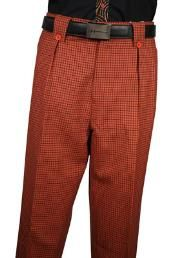Get Discounts on ID Classic Fit Pleated Front Rust Plaid Wool fabric Wide Leg Dress Slacks Mens Wide Leg Trousers, Mens Slacks, Mens Suits, Gaucho, Blue Check Suit, Tartan Suit, Checked Suit, Wool Fabric, Hats For Men