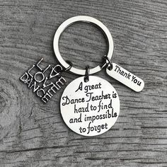 This Sportybella Dance Teacher Keychain is a beautiful and fun way to say thank you and show your ap Dance Teacher Gifts, Dance Gifts, Teacher Thank You, Thank You Gifts, Dance Teacher Quotes, Appreciation Message, Teacher Appreciation Gifts, Tanz Shirts, Thank You Baskets